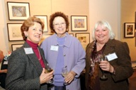 Guests (l-r) Joan Argetsinger, Mila Meier, and Martha Horton at the Historic Preservation Awards reception.